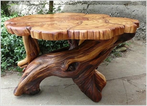 Как сделать стол из деревянных спилов своими руками 83