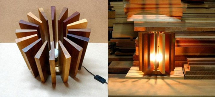 как сделать светильник из дерева