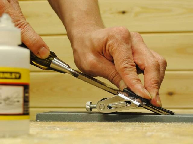 заточка ножа вручную