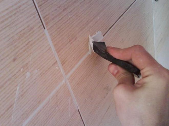 Плитка на фанеру на стену
