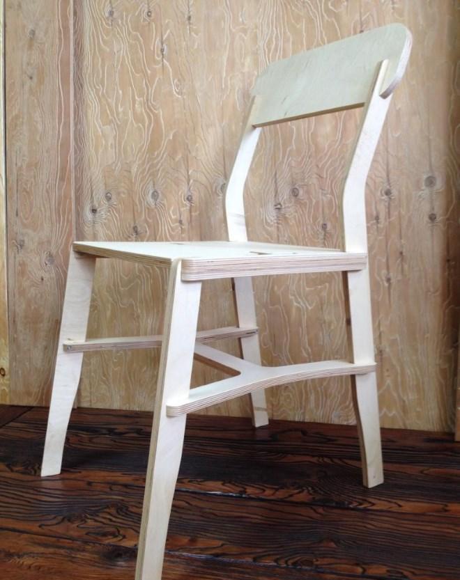 Сборка стула из фанеры