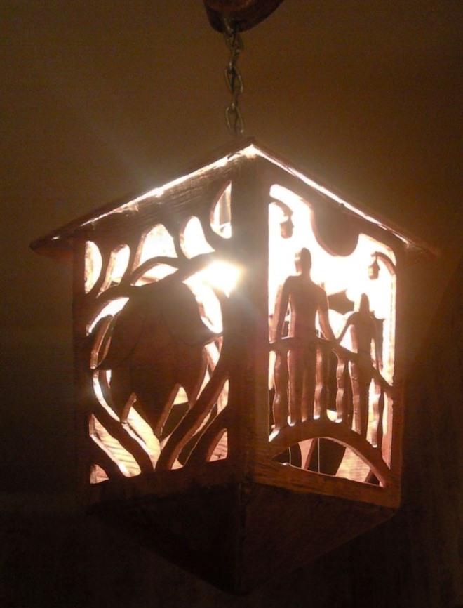 Изготовление светильника из фанеры