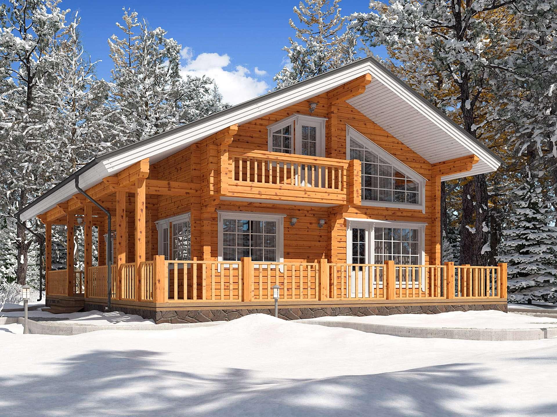 Зимние брусовые дома под ключ